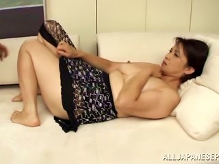 Chubby Lady Goes Hardcore With A Horny Man Over A Couch