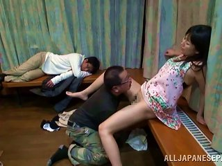A Submissive Japanese Wife Gets Bent Over And Rammed